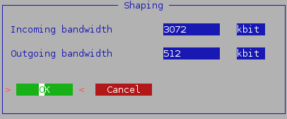 Vuurmuur shape interface settings.